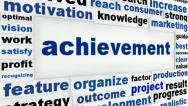 Stock Video Footage of Achievement creative message