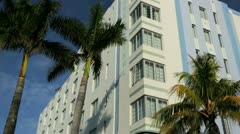South Beach Miami home to luxury Art Deco hotels, USA Stock Footage