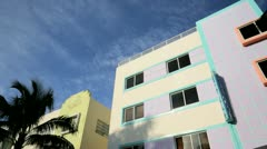 Ocean Drive South Beach Miami Art Deco hotels, Florida, USA Stock Footage