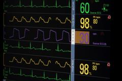 Hospital Patient Vital Signs Monitor Stock Photos