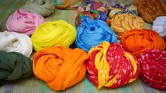 Colorful turbans Stock Photos