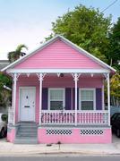 Pink house Stock Photos