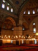mosque interior - stock photo