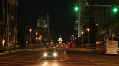 TIME LAPSE SACRAMENTO STATE CAPITOL WIDE SHOT NIGHT CITY LIGHTS HD 1080 - stock footage