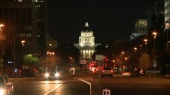 BEAUTIFUL NIGHT TIME VIDEO OF SACRAMENTO STATE CAPITAL TIME LAPSE HD - stock footage