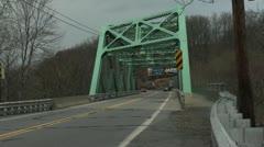 New-Jersey-bridge-School bus-Day-v01 Stock Footage