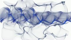 Blue smoke swing - stock footage