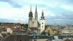 Zagreb cathedral Stock Footage