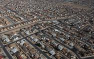 Stock Photo of albuquerque homes aerial