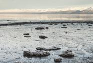 Frozen Alaskan bay Stock Photos