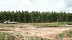 0002-Amazon-Deforestation-Logging-Replanting-Train-2 - stock footage