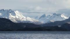 Bay and Kenai Mountains - stock footage