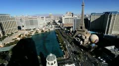 Bellagio Hotel, Paris Hotel, Las Vegas, USA, Time lapse Stock Footage
