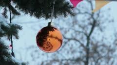 Orange ball Stock Footage