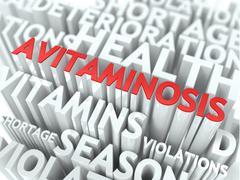 Avitaminosis Concept. - stock illustration