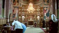 Orthodox monastery Stock Footage