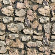 Stone Wall. Seamless Tileable Texture. - stock photo