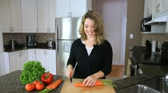 Slicing Carrots Stock Footage