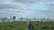 Stock Video Footage of Day view of the central district of Berlin from an observation deck