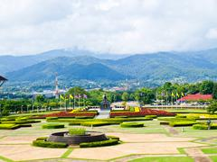 moutainous view from mae fah luang university, chiang rai, thailand - stock photo