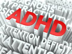 ADHD Concept. Stock Illustration