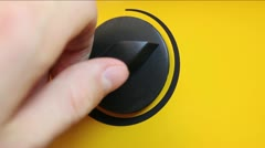 Selector switch of heating modes Stock Footage