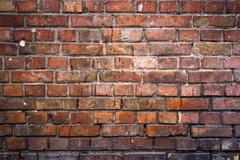 Brick Wall Background. - stock photo