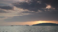 Beautiful sunset on the bank of the Andamandsky sea, Thailand Stock Footage