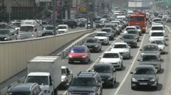 Traffic jams in Moscow. - stock footage