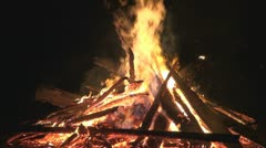 Fire and spark, wood burning, Stock Footage