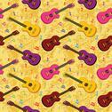 Seamless background, guitars Stock Illustration