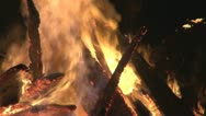 Stock Video Footage of Fire and spark, wood burning,