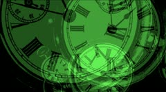 Clock zoom particles Stock Footage