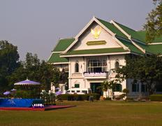 nan national museum, used to be a house of nan governer, nan thailand - stock photo