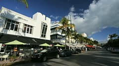 Art Deco District Restaurants on Ocean Drive, Miami,  Florida, USA - stock footage