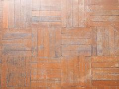 old parquet floor as background - stock photo