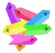 Arrows mess Stock Illustration