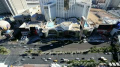Las Vegas Blvd hotels and casinos, Nevada, USA Stock Footage