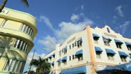 Stock Video Footage of Ocean Drive South Beach Miami home to Art Deco hotels, USA