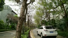 Developing and Rich China - finished residential road. Stock Footage