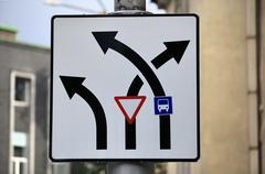 bizarre road signs - stock photo