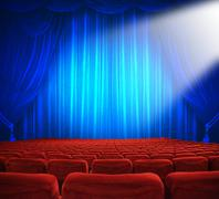 theatrical release - stock illustration