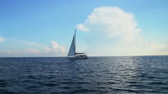 Yacht and clouds shine. Part 3 Stock Footage