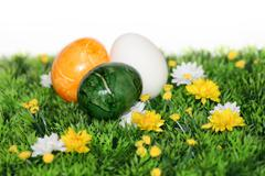 Stock Photo of colorful easter eggs