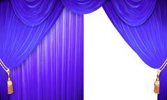 Stock Illustration of blue velvet curtains