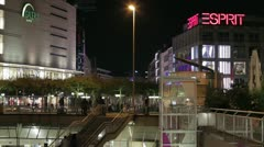 Frankfurt Shopping Area Stock Footage