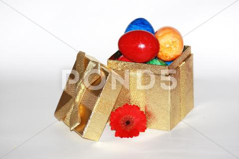 Stock photo of easter gift