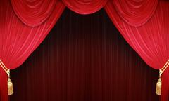 theater curtains - stock illustration