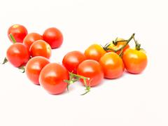 Stock Photo of cherry tomatoes isolated on white background