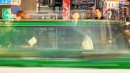 Panning time lapse of people shopping on Takeshita street in Harajuku, Tokyo Stock Footage